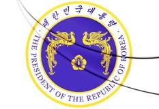 Le Président Seal de la république de Corée Illustration Stock