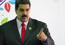 Le Président vénézuélien Nicolas Maduro Photo libre de droits