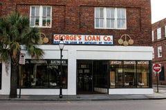 Le prêt Co de George , le Roi Street, Charleston, Sc photos stock