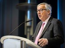 Le Pr?sident Jean-Claude Juncker de Commission europ?enne images libres de droits