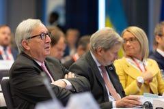 Le Pr?sident Jean-Claude Juncker de Commission europ?enne photo libre de droits