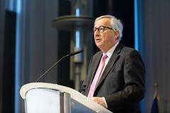 Le Pr?sident Jean-Claude Juncker de Commission europ?enne photographie stock libre de droits