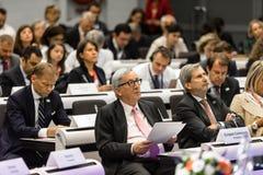 Le Pr?sident Jean-Claude Juncker de Commission europ?enne photographie stock