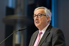 Le Pr?sident Jean-Claude Juncker de Commission europ?enne photos libres de droits