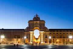 Le Praca font Comercio (l'anglais : La place de commerce) est située dans t Image libre de droits