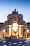 Le Praca font Comercio (l'anglais : Place de commerce) à Lisbonne Photographie stock libre de droits