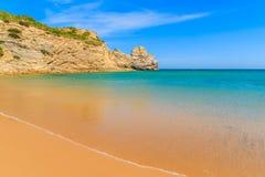 Le Praia d'or de sable font la plage de Barranco Image stock