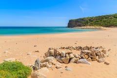 Le Praia d'or de sable font la plage de Barranco Images stock