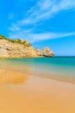 Le Praia d'or de sable font la plage de Barranco Photos libres de droits