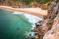 Le Praia font Beliche - belles côte et plage d'Algarve, Portuga Image libre de droits