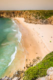Le Praia font Beliche - belles côte et plage d'Algarve, Portuga Image stock