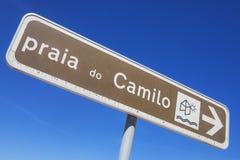 Le Praia font Camilo dans l'Algarve Images stock