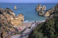 Le Praia font Camilo - Lagos - Algarve - le Portugal Images libres de droits