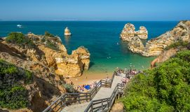 Le Praia font Camilo, Lagos, Algarve, Portugal images stock