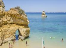 Le Praia font Camilo - Lagos dans Algarve, Portugal Image libre de droits