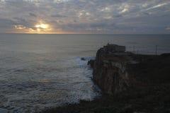 Le Praia font Norte Nazare Portugal Images libres de droits