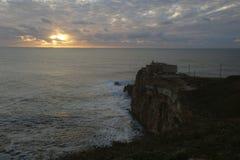 Le Praia font Norte Nazare Portugal Photo stock