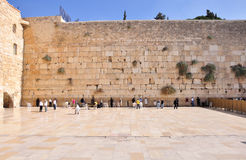 Parete lamentantesi di Gerusalemme Fotografie Stock Libere da Diritti