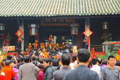 Le preghiere trasmettono il tempiale di Nanhai Immagini Stock