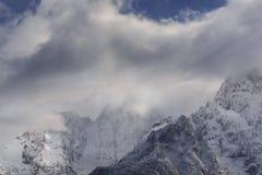 Le premier gel dans les montagnes Image libre de droits