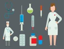 Le premier hôpital stérile de symboles de secours de croix médicale de signe bande l'illustration de vecteur de docteur d'ambulan illustration de vecteur