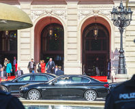 Le premier ministre Volker Bouffier laisse la célébration officielle a Photo libre de droits