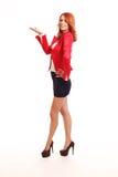 Le presentera för affärskvinna Fotografering för Bildbyråer