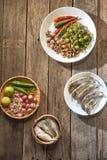 Le prik de nam de cuisine ou la pâte thaïlandais de piment se mélange photographie stock libre de droits