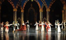 Le prince lac swan d'acte-ballet de mitzvah-Le de barre du troisième Images libres de droits