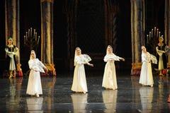 Le prince national russe de costume-Le lac swan d'acte-ballet de mitzvah-Le de barre du troisième Images libres de droits