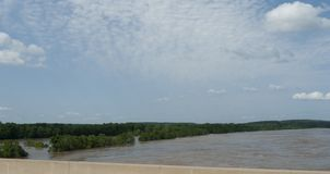 Le printemps d'inondation de la rivi?re Arkansas 2019 photo libre de droits