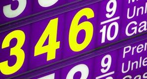 Le prix élevé de la dépendance de pétrole Images stock