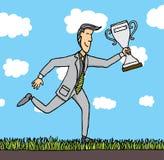 Le prix d'affaires/a attribué l'homme d'affaires Illustration Libre de Droits