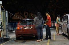 Le prix d'essence monte Images libres de droits
