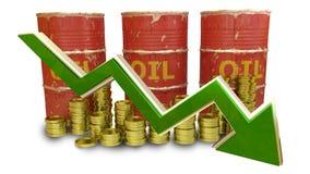 Le prix des diminutions de carburant d'isolement sur le blanc Photos stock