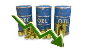 Le prix des diminutions de carburant d'isolement sur le blanc Photo stock
