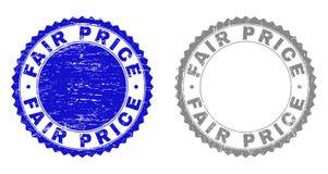 Le PRIX RAISONNABLE grunge a donné à des joints une consistance rugueuse de timbre illustration libre de droits