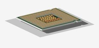 Le processeur central (3D). Photographie stock libre de droits