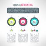 Le processus d'affaires de vecteur fait un pas les éléments infographic Photos stock