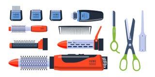 outils pour un salon de coiffure photo stock image 13510242. Black Bedroom Furniture Sets. Home Design Ideas
