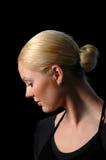 Le profil de la ballerine Image libre de droits