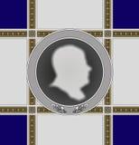 Le profil des hommes de médaille de ?ommemorative Illustration Libre de Droits