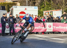 Le prologue 2013 de Cylist Chavanel Sylvain Paris Nice dans Houille Images stock