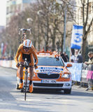 Le prologue 2013 de Cylist Verdugo Gorka- Paris Nice dans Houilles Photos libres de droits