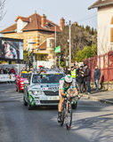Le prologue 2013 de Hivert Jonathan Paris de cycliste Nice dans Houille Photo stock