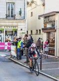 Le prologue 2013 de Monfort Maxime Paris de cycliste Nice dans Houilles Image libre de droits
