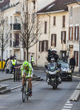 Le prologue 2013 de Paris de basso d'Ivan de cycliste Nice dans Houilles Photos stock
