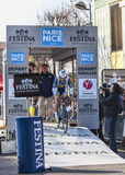 Le prologue 2013 de Veuchelen Frederik Paris de cycliste Nice dans Houi Photo libre de droits