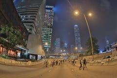 Le proteste di Hong Kong dentro occupano la centrale, Hong Kong Immagine Stock Libera da Diritti
