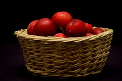 Le prugne di colore rosso Immagine Stock Libera da Diritti